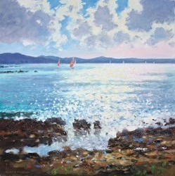 Ibiza II by James Preston -  sized 20x20 inches. Available from Whitewall Galleries